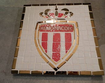 Trivet As Monaco Fc mosaic red, white gold