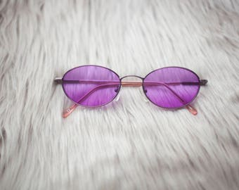 Purple Vintage Style Sunglasses / Purple Sunglasses / Purple Lenses