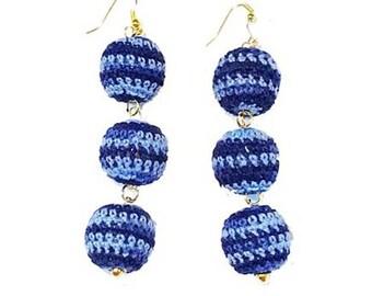 Crocheted Bon Bon | Blue Multi