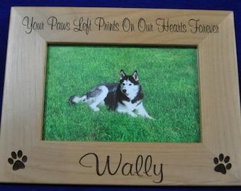 Pet Loss ~ Dog Frame ~ Pet Loss Gift ~ Engraved Frame ~ Loss Of Pet ~ Pet Picture Frame ~ Gift For Pet Loss ~ Custom Pet Frame ~ Pet Gifts ~