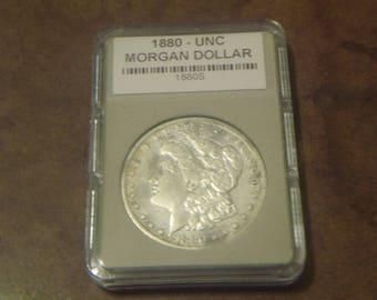 Uncirculated 1880 S / MORGAN SILVER DOLLAR