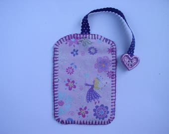 Bookmark Purple Fairy and her heart button