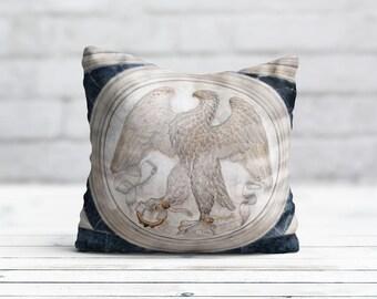 Living Room Pillow Bald Eagles Cushion Cover Beige PillowCase Animal Throw Pillow Cover Silk Pillow Satin Pillow Luxury Home Decor Dad Gift