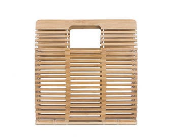 Bamboo Wicker Summer Square Bag (Pre Order)