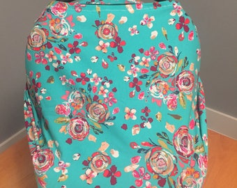 4-in-1 Nursing Cover, Carseat Cover, High Chair Cover, & Shopping Cart Cover