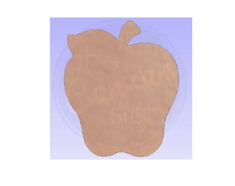 Unfinished Wood Apple Cutout - Wreath Accent - Teacher - Classroom - Door Hanger - Ready to Paint & Personalize