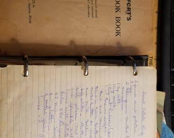 Vintage Old Recipes Cookbook