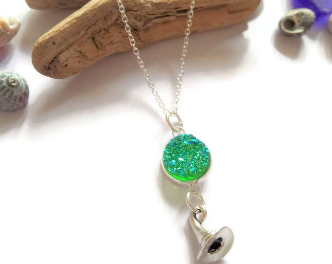 wicked necklace, witches gift, druzy crystal necklace, oz necklace, oz gift, oz favors, witches hat, party bag fillers, once upon a time, UK