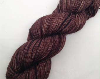 Gourmet Chocolate - Hand Dyed Fingering Weight Yarn - Bootheel (400 yards)