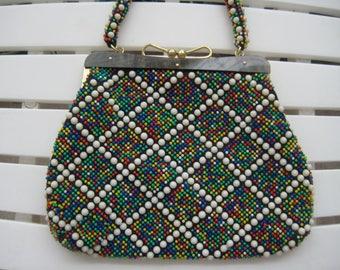 Multi-Colored Beaded Handbag - Cute!