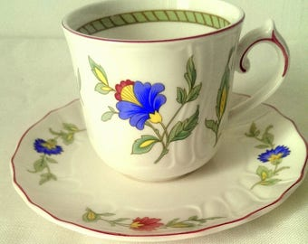 Villeroy and Boch Persia cups and saucers - set of four