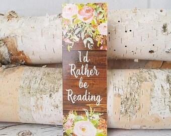 Planner Accessories - Bookmark - Stocking Stuffers - Book Lover Gift - Watercolor Art - Bookworm Gift - Gifts under 5 - Book Nerd Gift