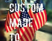 Custom Order for Becky Painted Flag Dress
