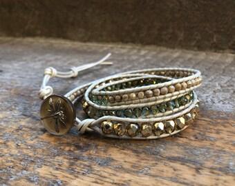 Cali Beaded Wrap Bracelet
