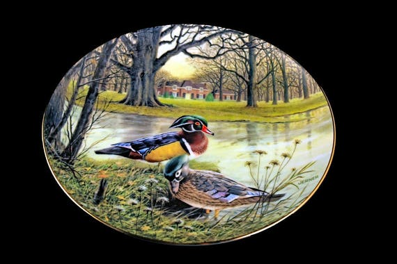 1987 Collectible Plate, Knowles China, Jerner's Duck Collection, The Wood Duck, Limited Edition, Decorative Plate, Wall Decor, New In Box
