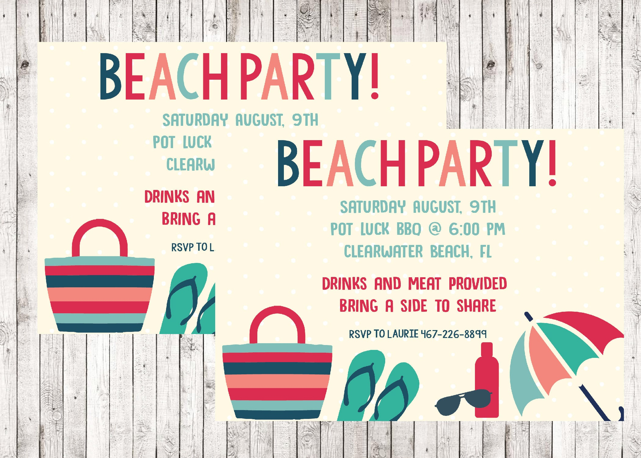 Summer beach party invitation birthday party printable invite summer beach party invitation birthday party printable invite neighborhood family end of stopboris Image collections