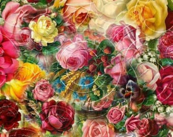 32 Gorgeous Vintage Rose Graphics Clipart Digital Scrapbooking Designs INSTANT DOWNLOAD