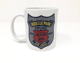 Customizable Roselle Park Police Patch Mug/Any PD Patch Can Be Used