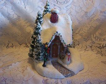 "Thomas Kinkade  Lighted ""Stillwater Cottage"""