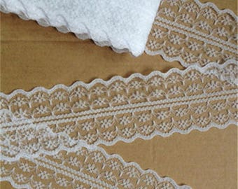 pretty white lace, thin polyester