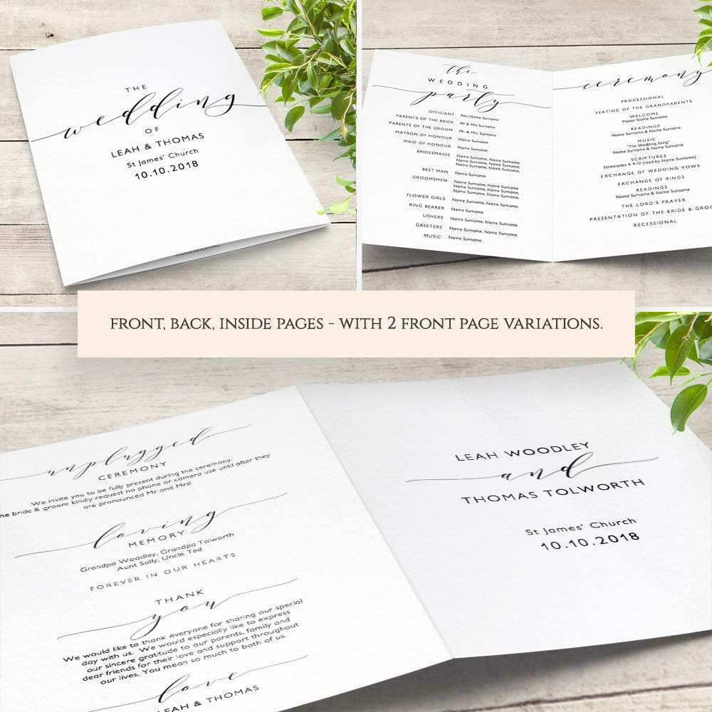 wedding menu template 5x7 and full page menu printable. Black Bedroom Furniture Sets. Home Design Ideas