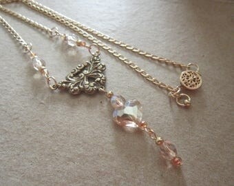 Swarovski Crystal Heart Necklace-14k Gold Filled Chain Necklace-Crystal Heart Necklace-Evening Jewelry-Elegant Jewelry-Statement Necklace