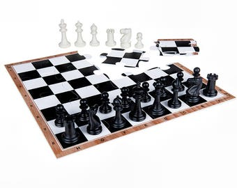 JigChess Chess Set - Chess board jigsaw puzzle, Plastic Chess pieces -Great Gift