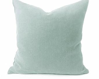 Plain Linen Cushion- Sage Green Cushion- Plain Cushion- Light Green Pillow- Plain Pillow- Throw Pillow- Green Linen Cushion- Cushion Cover