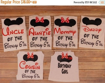 ON SALE Disney first birthday shirt - birthday Disney shirt - Family birthday shirt - Family custom shirt - disney custom shirt - Birthday d