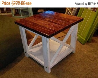 Rustic End Tables rustic end table | etsy