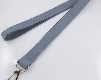 NEW! NARROW Lanyard Gray Lanyard Grey Lanyard  Slim Lanyard Teacher Lanyard Key Holder Lanyard for Keys Office Lanyard Nurse Lanyard