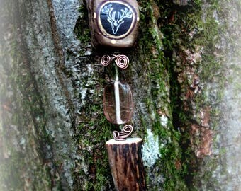 Red Deer Totem pendant