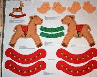 Cranston Print Works Rocking Reindeer, Cranston Christmas Fabric, Easy to Sew Christmas Fabric, VIP Cranston Fabric, Christmas Reindeer