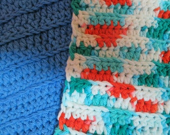 Crocheted dishcloth, Ready to Ship, Clearance