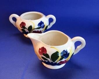 Cream & Sugar Blue Ridge Antique American Southern Pottery