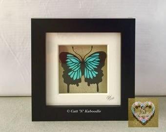 Butterfly framed papercut