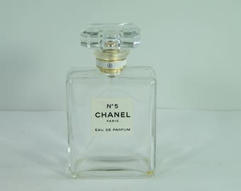 Empty  Chanel No 5 spray bottle Eau de Parfum Paris vintage Made in France