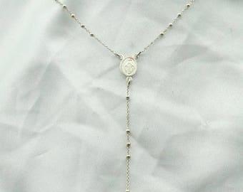 Simple Vintage Sterling Silver Rosary  #SIMPLE-UV1