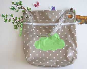 to order, cane stroller bag, waxed canvas lined with cotton