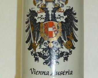 Vintage Vienna, Austria Beer Stein Large Stoneware Mug Original King Gray Pottery Royal City Crest 1 Liter Gifts for Him