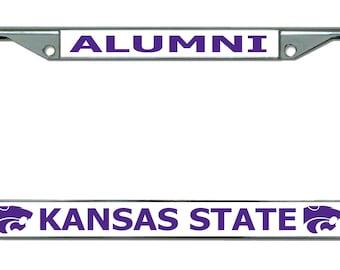 Kansas State University Alumni Chrome License Plate Frame