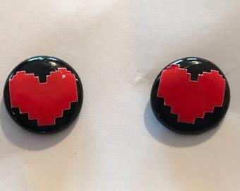 Undertale Inspired Heart Earrings