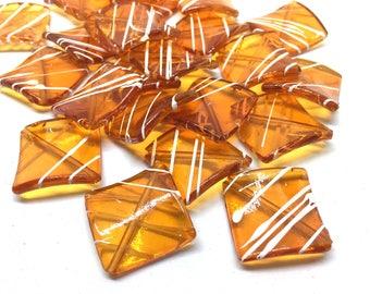 Orange & white Beads, orange Painted Beads, 29mm Beads, big acrylic beads, bracelet, necklace, acrylic bangle beads, orange jewelry bracelet