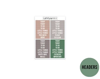 HEADERS   Relax   Planner Stickers    Add on   Matte