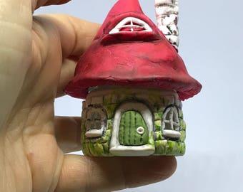 Miniature fairy house - Storage Jar ~Wedding Favours ~ paper weight