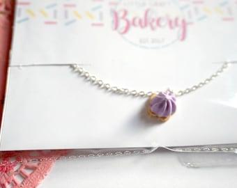 Handmade Lilac Iced Gem Necklace