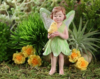 Fairy Garden  - Kalea And Pet Chick - Miniature