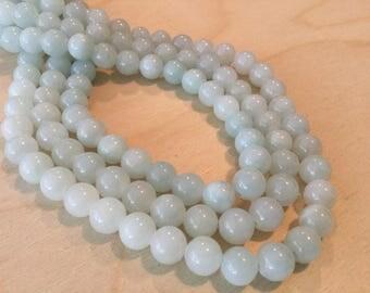 Light Mint Jade Beads 8mm