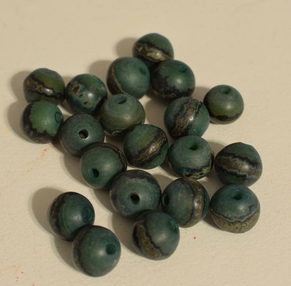 Beads Philippines Dark Green Buri Nut Round Jewelry Necklace Earrings Buri Nut Beads