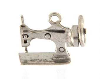 Vintage Sewing Machine Moveable Pendant
